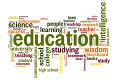 Education word cloud Stock Image
