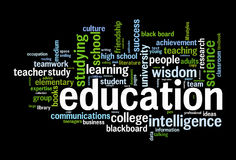Education word cloud. Conceptual image Stock Photography