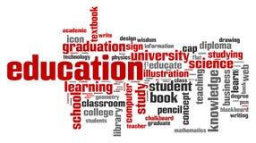 Education word cloud vector illustration