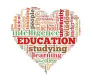 Education word cloud Royalty Free Stock Photos