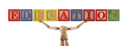 Education word manikin Stock Image