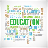 Education Word Vector Royalty Free Stock Image