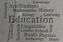 Education Wordcloud Stock Photography