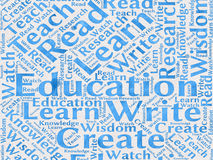 Education words background Royalty Free Stock Photos
