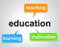 Education Words Represents Learning Tutoring And Schooling Royalty Free Stock Photography
