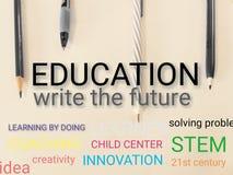 Free Education Write The Future Stock Photos - 139846233