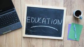 Education written Stock Photo