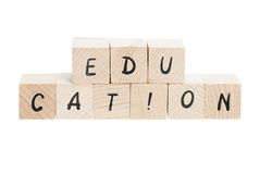 Education Written With Wooden Blocks. Royalty Free Stock Photo