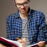 Education. Young male student preparing for exams.self developm. Ent, learning, success Stock Photos