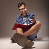 Education. Young male student preparing for exams. Stock Photography