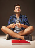 Education. Young male student preparing for exams. Stock Image