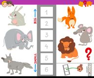 Educational activity with large and small animals Stock Photography