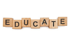 Educational blocks. On the white background Royalty Free Stock Photography