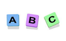 Educational blocks. A vector illustration Stock Photo