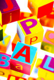 Educational blocks Stock Images