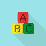 Educational blocks flat style Royalty Free Stock Images
