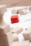 Educational blocks made of natural wood Stock Photo
