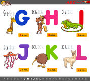 Educational cartoon alphabet for children Royalty Free Stock Images