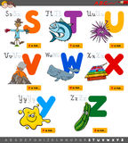 Educational cartoon alphabet set for children Royalty Free Stock Photography