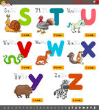 Educational cartoon alphabet set for learning Stock Photography