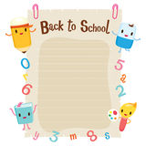 Educational Characters, Number And Alphabet On Blank Note Paper Royalty Free Stock Photo