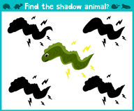 Educational children cartoon game for children of preschool age. Find the right shade cute marine electric eel. Vector. Illustration Stock Image