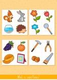 Educational children game. Logic game for kids. What is superfluous. Educational children game, vector. Logic game for kids. What is superfluous vector illustration