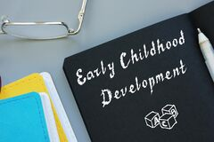 Free Educational Concept Meaning Early Childhood Development With Sign On The Sheet Stock Image - 186114021