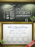 Educational concept poster template design Royalty Free Stock Photos