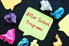 Educational concept about After School Programs with phrase on the sheet