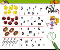 Educational counting activity Royalty Free Stock Photography
