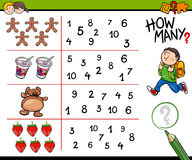 Educational counting activity for kids. Cartoon Illustration of Educational Counting Activity for Children Royalty Free Stock Photography