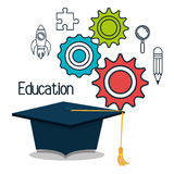 educational elements isolated icon design Royalty Free Stock Image
