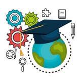 educational elements isolated icon design Stock Images