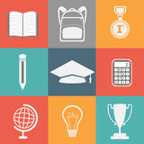 Educational elements, objects and items. Stock Photos