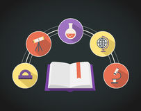 Educational Flat Icons Royalty Free Stock Photography