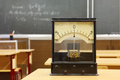 Educational galvanometer with not real number 555 Stock Photo