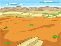 Educational game  African savannah background Stock Photography