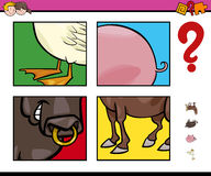 Educational game with animals Stock Images
