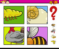 Educational game with animals Royalty Free Stock Images