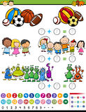 Educational game cartoon illustration Stock Image