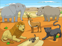 Educational game for children African savannah Stock Photography