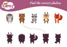 Kids educational game vector illustration