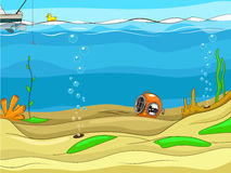 Educational game for children underwater life Royalty Free Stock Photo