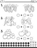 Educational game coloring page Stock Photo