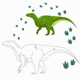 Educational game connect dots to draw dinosaur Royalty Free Stock Photos