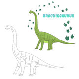 Educational game connect dots to draw dinosaur royalty free illustration