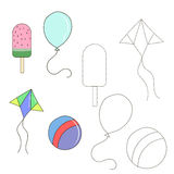 Educational game connect the dots to draw item Stock Image