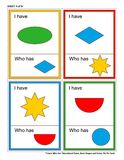 Educational game for kids - I Have Who Has - shapes and colors. Sheet 4 of 9. Royalty Free Stock Image