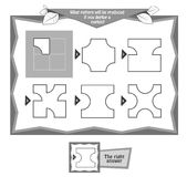 Coloring book napkins. Educational game for kids, puzzle. black and white coloring book. Task game guess the shape napkins Royalty Free Stock Images